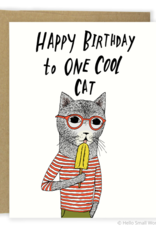 Happy Birthday Cool Cat Greeting Card
