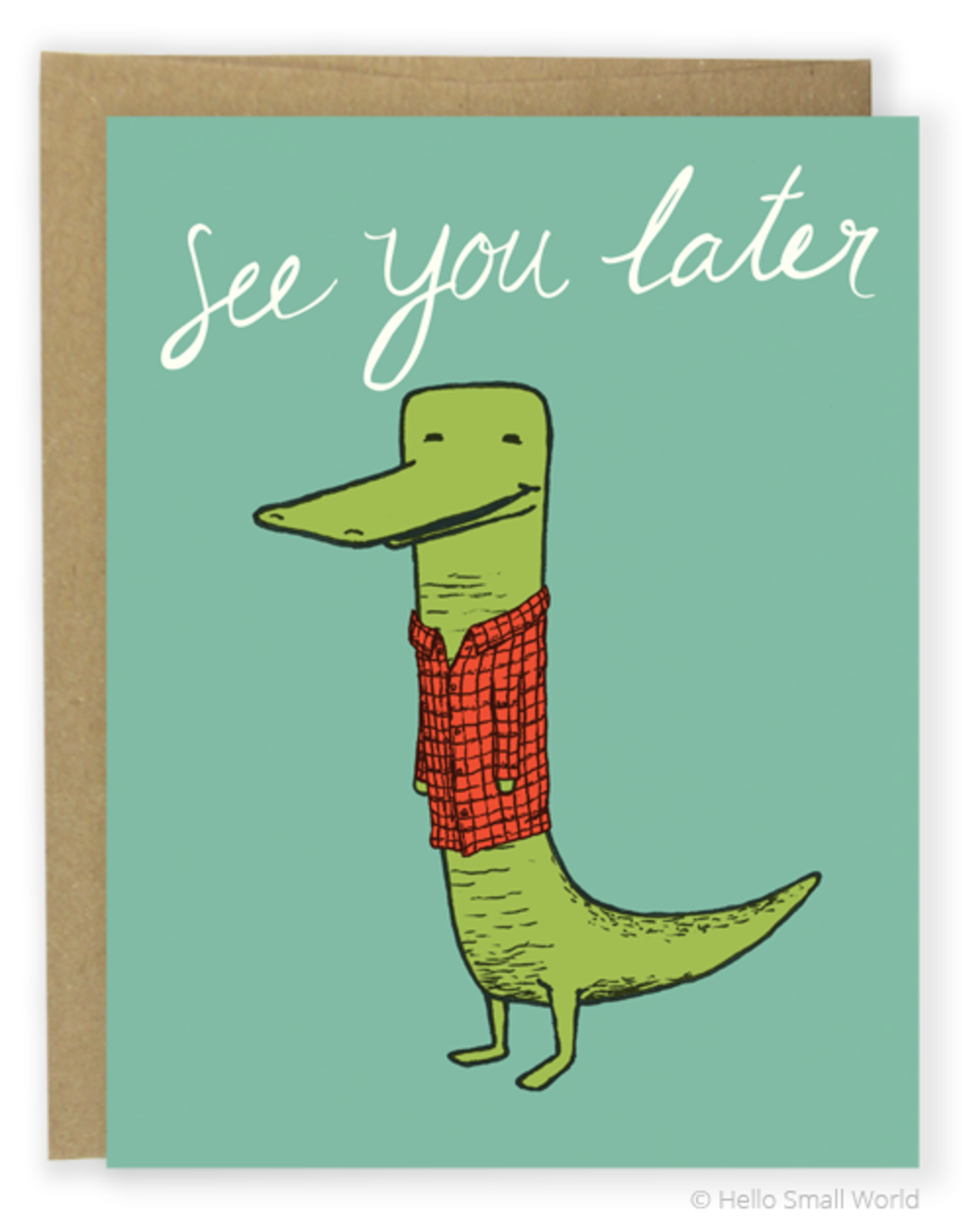 Later Alligator Greeting Card