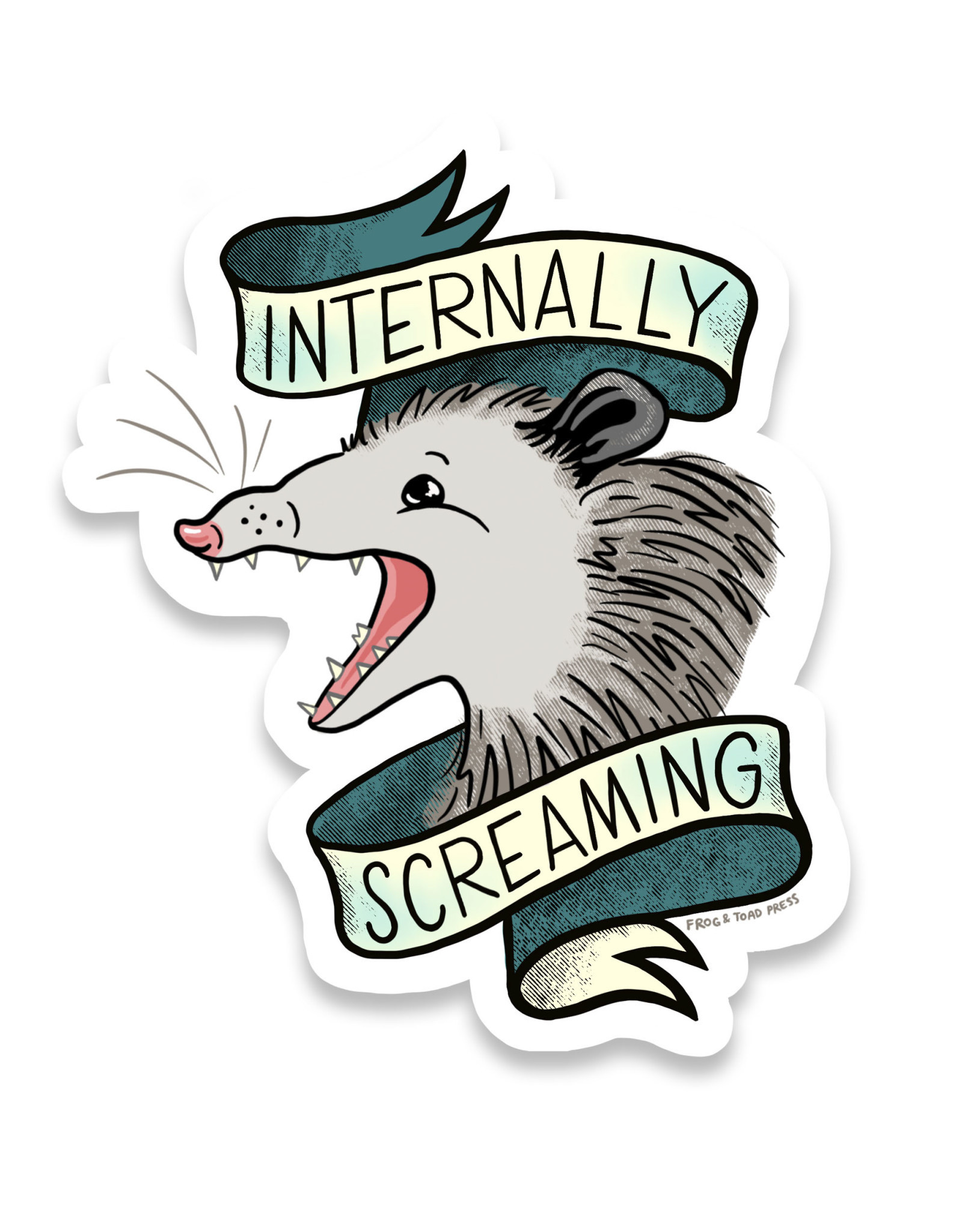 Internally Screaming Possum Sticker