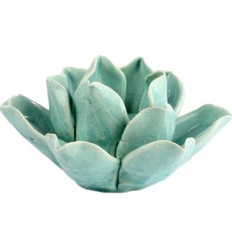 Lotus Tea Light Holder - Teal