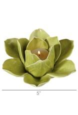 HomArt Lotus Tea Light Holder - Green
