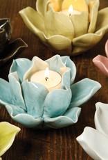 Lotus Tea Light Holder - White