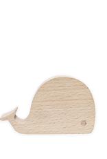 Kikkerland Beechwood Whale Phone Stand