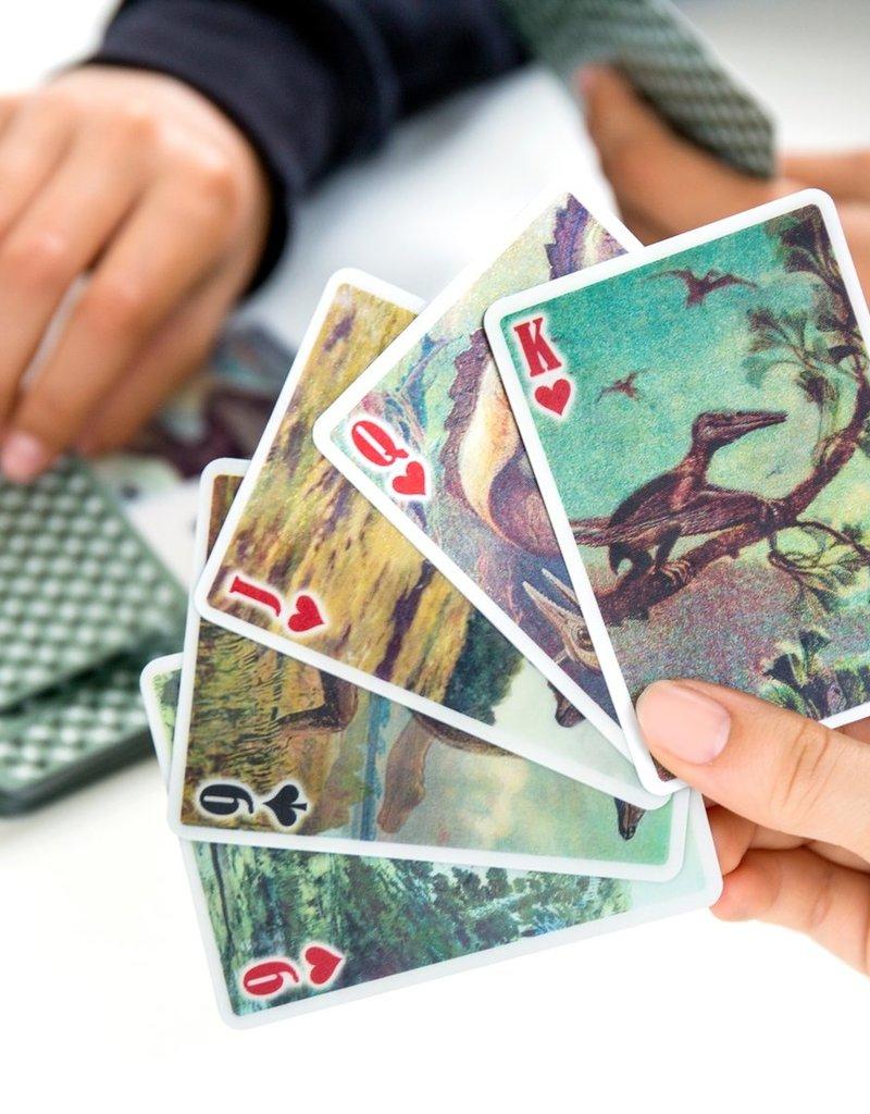 Kikkerland 3D Dinosaur Playing Cards