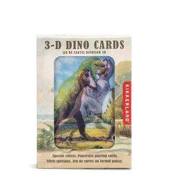 Kikkerland 3D Dinosaur Playing Cards