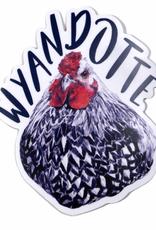 Wyandotte Hen Sticker