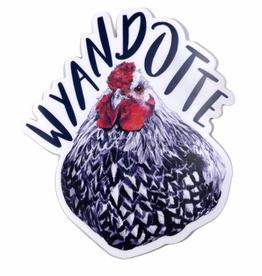 Embee Studio Wyandotte Hen Sticker
