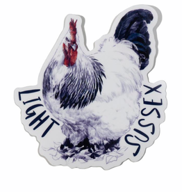 Light Sussex Hen Sticker