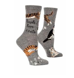 Blue Q People I Love: Cat Women's Crew Socks