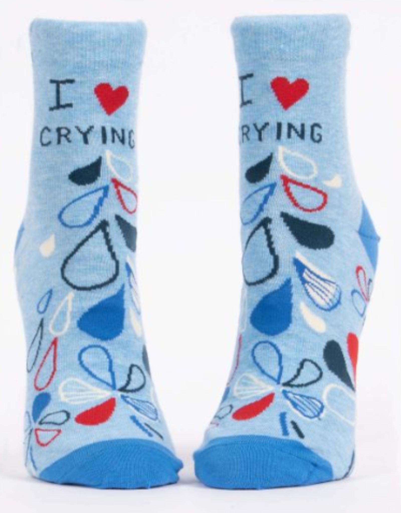 Blue Q I Heart Crying Women's Ankle Socks