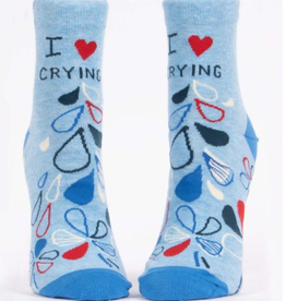 Blue Q I Heart Crying Women's Ankle Socks