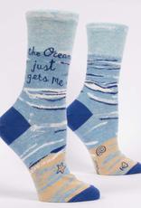 The Ocean Just Gets Me Women's Crew Socks
