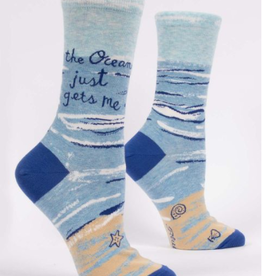 Blue Q The Ocean Just Gets Me Women's Crew Socks