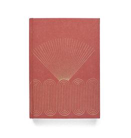 DesignWorks Ink Radiant Rays Suede Journal - Terracotta