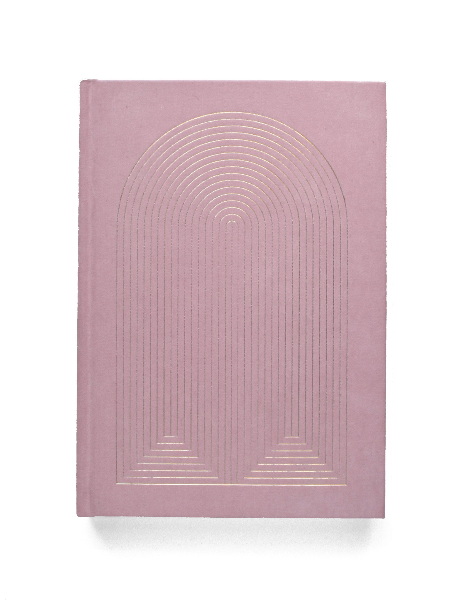Radiant Rainbow Suede Journal - Pink