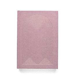 DesignWorks Ink Radiant Rainbow Suede Journal - Pink