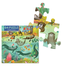 eeBoo Otters at Play Puzzle - 64 Pieces