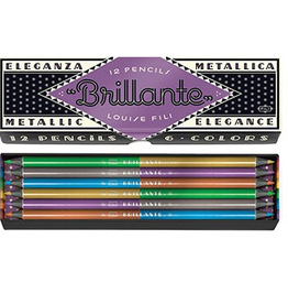 Brillante Metallic Pencils - Louise Fili (Set of 12)