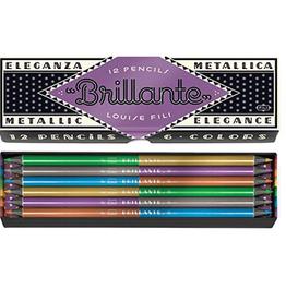 Princeton Architectural Press Brillante Metallic Pencils - Louise Fili (Set of 12)