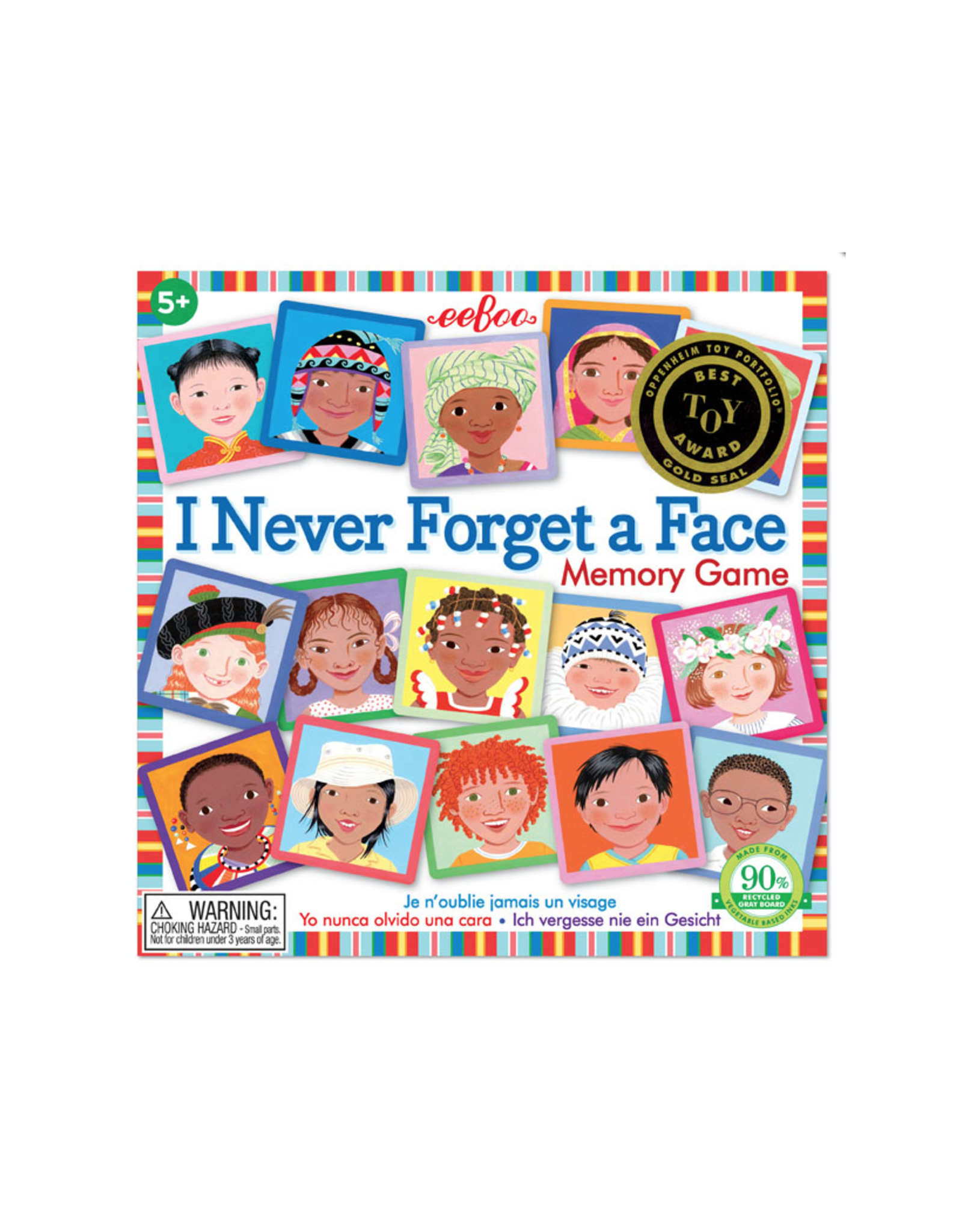 eeBoo I Never Forget A Face Matching Game 3rd Edition