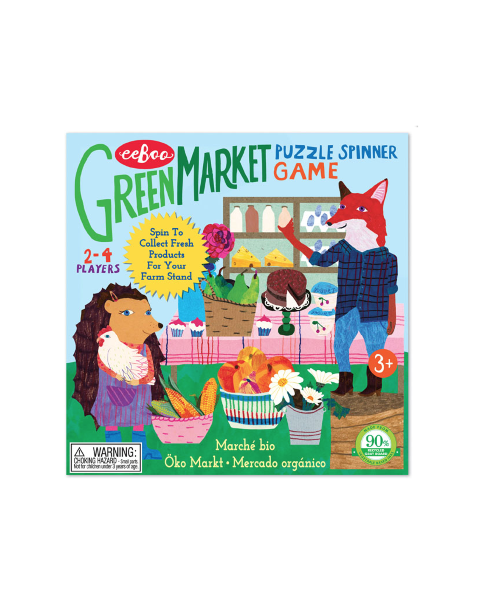 eeBoo Green Market Puzzle Spinner Game