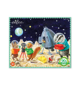 eeBoo Landing On The Moon 36 Piece Mini Puzzle