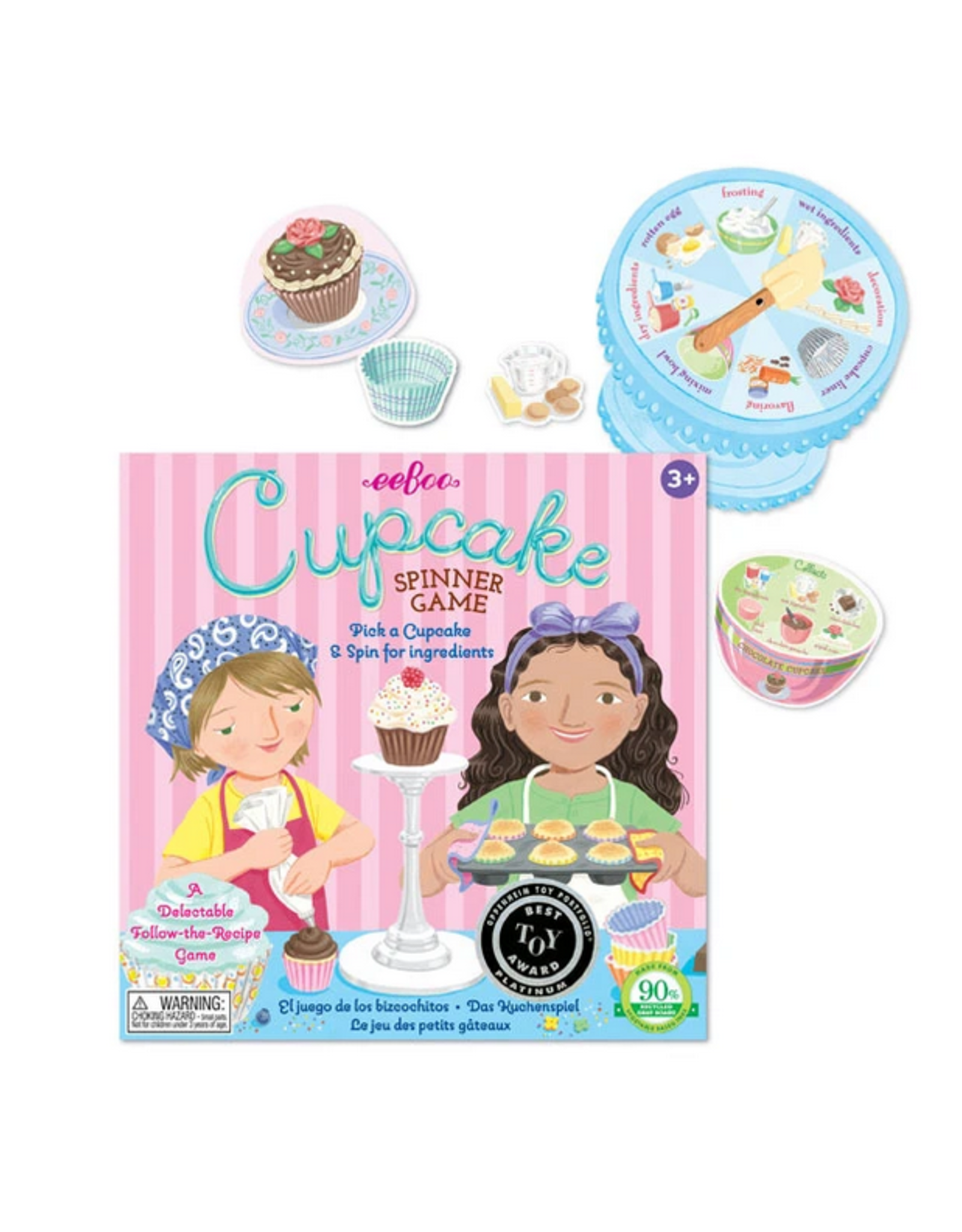 eeBoo Cupcake Spinner Game