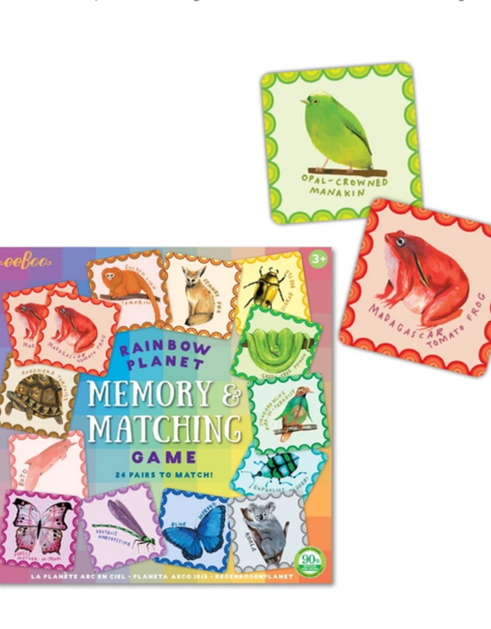 Rainbow Planet Memory Matching Game