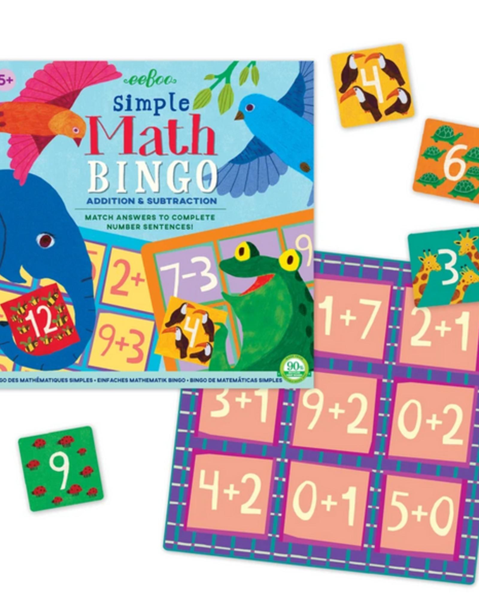 Simple Math Bingo - Addition & Subtraction