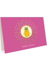 Thanks So Much Pineapple Greeting Card