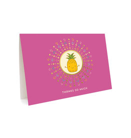 Night Owl Paper Goods Thanks So Much Pineapple Greeting Card