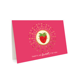 Night Owl Paper Goods That's So Sweet of You Strawberry Greeting Card