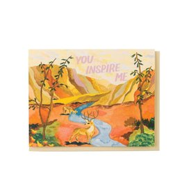 Small Adventure You Inspire Me Greeting Card