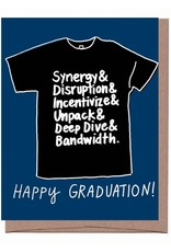 Happy Graduation Black T-Shirt Greeting Card
