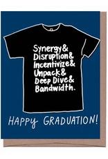 La Familia Green Happy Graduation Black T-Shirt Greeting Card