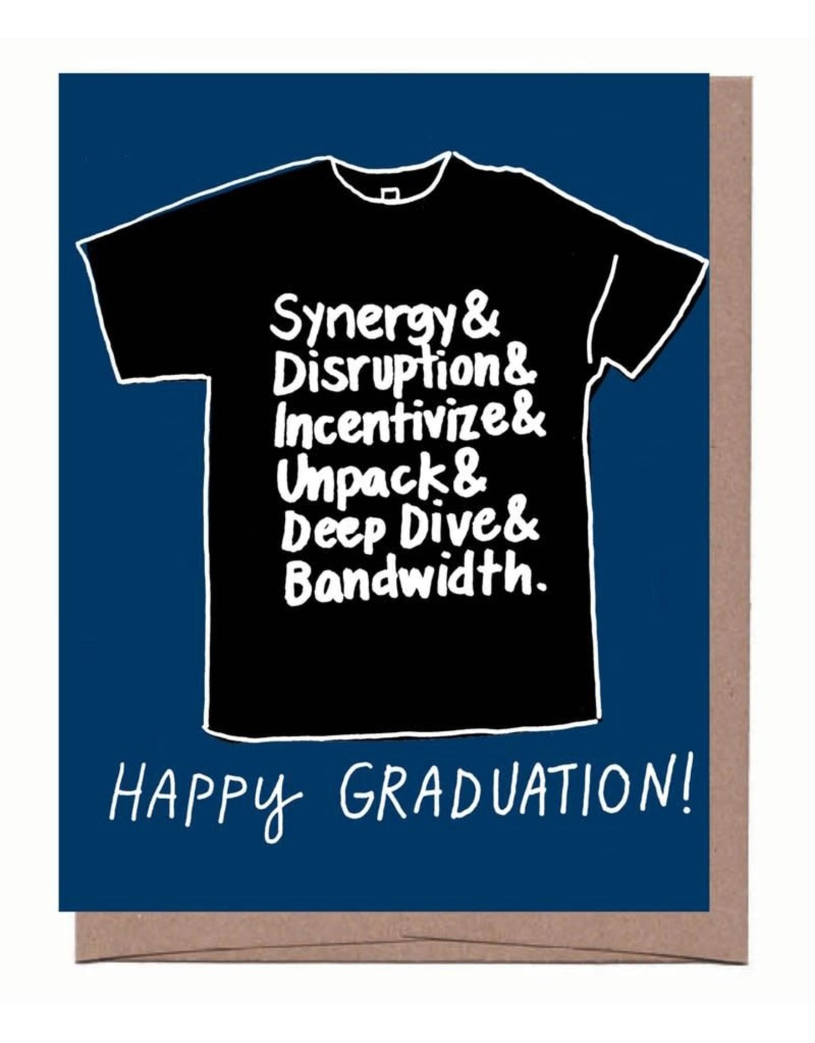 Happy Graduation Black T-Shirt Greeting Card