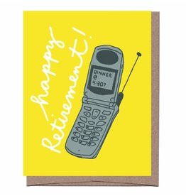 Happy Retirement (Flip Phone) Greeting Card