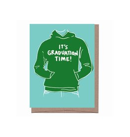 La Familia Green It's Graduation Time Hoodie Greeting Card
