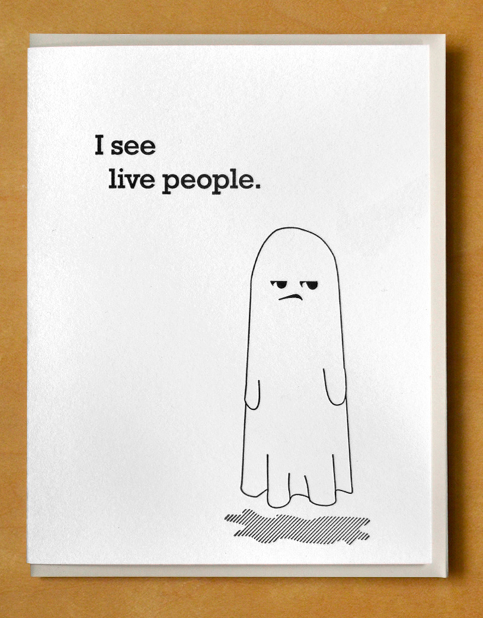 """I See Live People."" - Ghost Greeting Card"