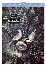 Doves in Ferns Sketchbook