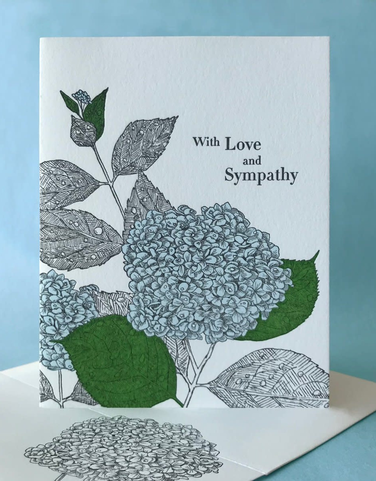 With Love and Sympathy (Hydrangea) Greeting Card