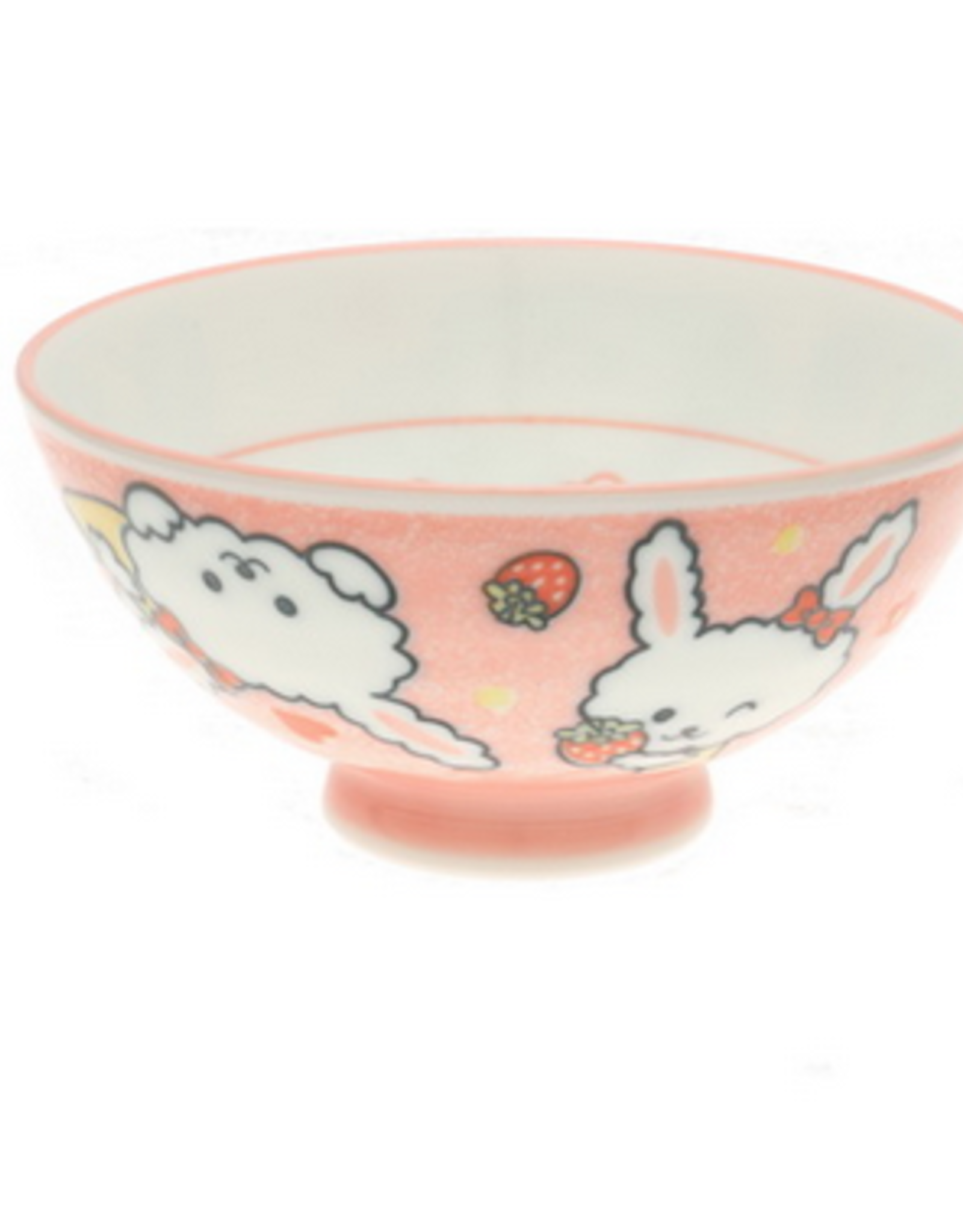 Pink Lovely Bunny Rice Bowl