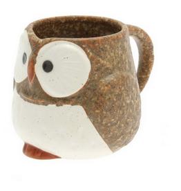 Kotobuki Owl Mug - Brown