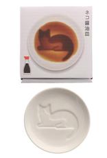 Cat Lazily Lounging Sauce Plate