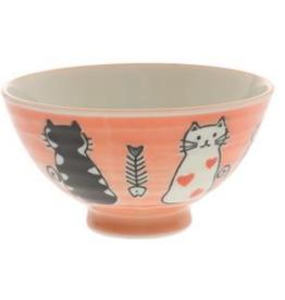 Kotobuki Red Otoboke Cat Rice Bowl