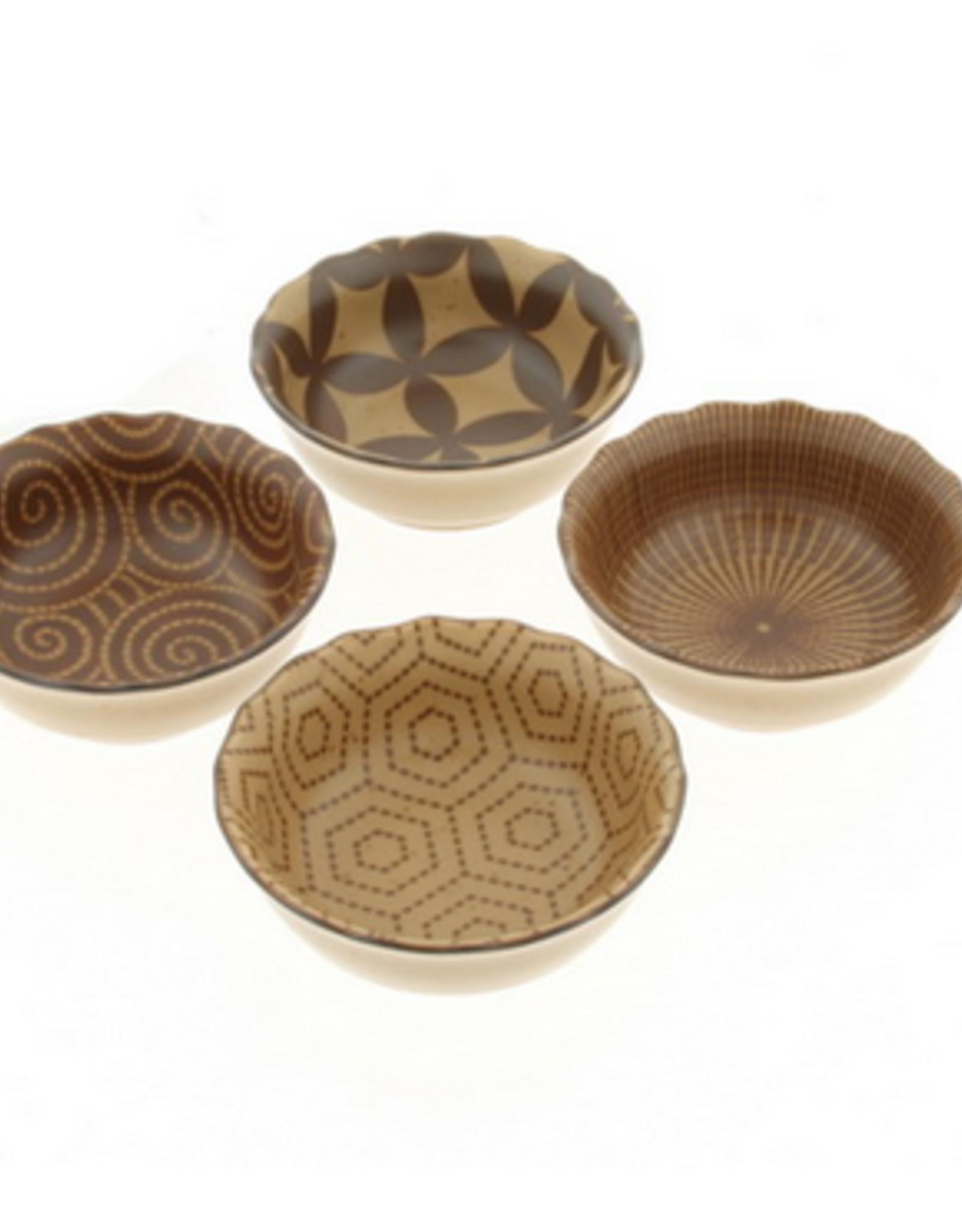 Kyo Modern Sepia Sauce Bowl Set of 4