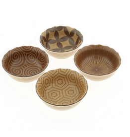 Kotobuki Kyo Modern Sepia Sauce Bowl Set of 4