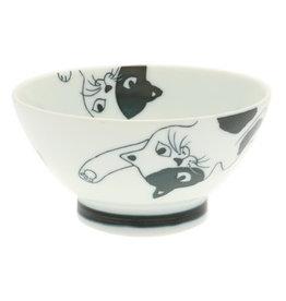 Kotobuki Ricebowl Lounging Calico Cat