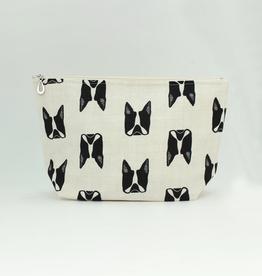Dana Herbert Accessories Cosmetic Bag Large : French Bulldog