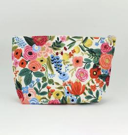 Dana Herbert Accessories Cosmetic Bag Large : Cream & Pink Floral